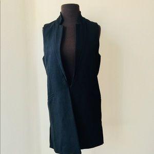 💙ZARA Long Black Vest MSRP $78